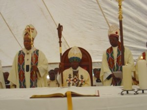 Cardinal W Napier, Bishop M Dlungwane, Bishop P Ncube